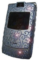 Motorola RAZR V3 blue Swarowsky