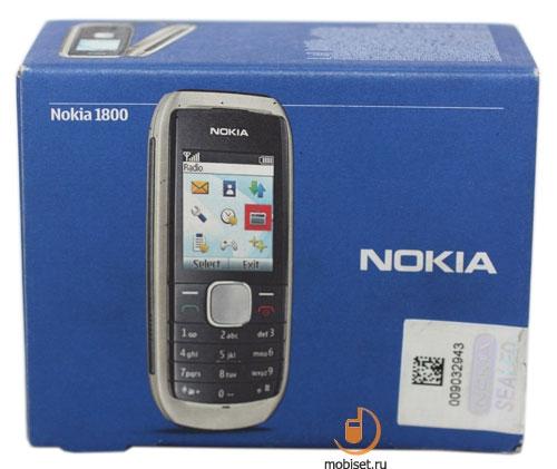 инструкции для Nokia 1800,