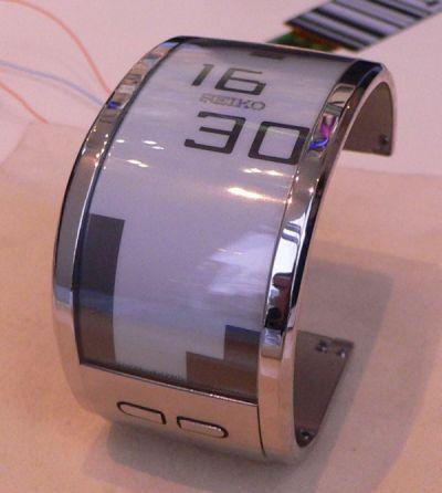 Компании Seiko Watch Corp и Seiko Epson Corp разработали наручные часы, в качестве дисплея использующие в качестве...