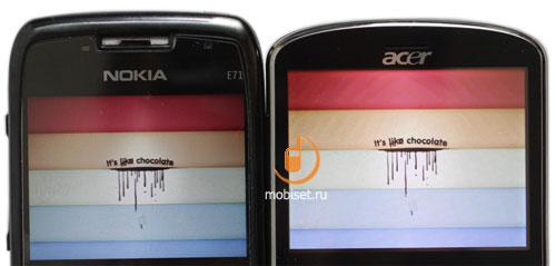 Nokia E71 и Acer beTouch E130