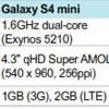 В Samsung Galaxy S4 Mini установлен чипсет Exynos 5210